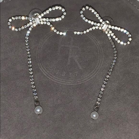 Bow Pearl Drop Earrings